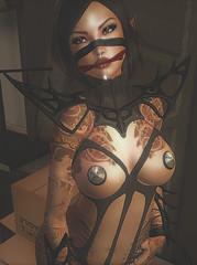 47 (ησνιѕт) Tags: darkelf secondlife sl erotic sensual boobs fantasy dark catwa maitreya tattoo piercing sexy