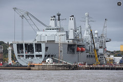 Fort Victoria (alundisleyimages@gmail.com) Tags: royalnavy shipping ministryofdefense cammelllaird industriallandscape rivermersey cranes shipyard supplyvessel contract apprenticeships
