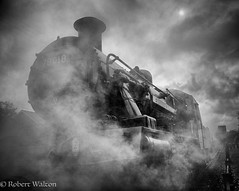 Play misty (Mirrorfinish) Tags: brstandard2no78018 steam railway engine loughborough leicester locomotive gcr greatcentralrailway blackandwhite bw heritage