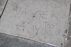 Jagger, San Francisco , CA (Robby Virus) Tags: sanfrancisco california sf ca jagger loves amy too much graffiti sidewalk cement concrete pavemen