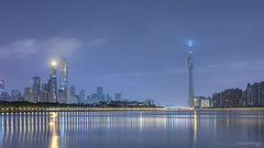 Silent Guangzhou (kevinho86) Tags: 50mm eos6d sunset canon colour canton city cityscapes longexposures lightshadow urban reflection 内透 pearlrivernewtown 珠江新城 feelings 建築 城市 天空 guangzhou landscape scenery scape downtown innerlights twilight art wideangle citylights landmark water 天際線 simple tower cantontower 169 architecture