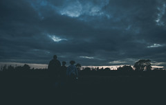 Almost dark (music_man800) Tags: mood dark night dusk evening afternoon late cloud cloudy clouds sunset atmospheric atmosphere moody eerie ominous sky silhouette people family candid walk hike outside outdoors nature natural light lighting dim tree horizon person walking canon 700d adobe lightroom creative edit photography arty artistic blue hour orange glow houe farm ewt essex wildlife trust reserve nr uk united kingdom river crouch film filmy effect
