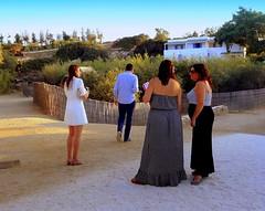 Wedding Planners at Work (dimaruss34) Tags: newyork brooklyn dmitriyfomenko image greece antiparos sky beachhouseresort girl woman children bench shed trees buildings women man building fence walkway sand