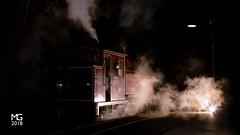 Lakeside (michaelgreenhill) Tags: pbr night victoria lighting smoke lakeside 12a australia locomotive trains train flash steam puffingbilly melbourne au