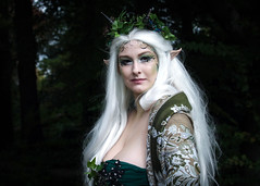 Portrait from Elfia - Arcen 2018 (Gordon.A) Tags: elfia kasteeltuinen arcen september 2018 elf fantasy fair festival alternative culture subculture creative kostuum costume cosplay cosplayer cosplayphotography model lady woman face pose posed posing green shawl horns people event eventphotography amateur naturallight portret portrait portraitphotography day daylight outdoor outdoors outside castle gardens garden trees depthoffield dof bokeh colour colours color digital canon eos 750d sigma sigma50100mmf18dc