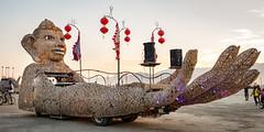 Burning Man 2018 (yannha) Tags: sigma35mm14art travel us burningman bm festival desert playa sunset golden art car decoration light