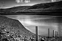 LOW LEVELS at Readycon Dean Reservoir (Missy Jussy) Tags: lowlevels water reservoir northwest england denshaw readycondeanreservoir measure levels clouds pennines pennineway outdoor outside countryside unitedutilities light sunlight mono monochrome blackwhite bw blackandwhite 50mm ef50mmf18ll ef50mm canon50mm fantastic50mm canoneos5dmarkii canon5d canon5dmarkll canon hosepipeban