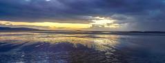 West Kirby sunset (Philip Brookes) Tags: sunset westkirby beach sand sea water sky clouds island hilbreisland uk england wirral britain shore seaside evening deeside