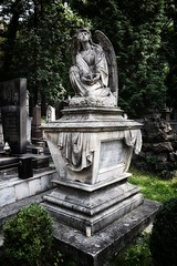 Lychakiv Cemetery, Lviv (jacek_szacho-głuchowicz) Tags: lviv lychakiv ukraine cemetery tomb tombstone grave sculpture angel