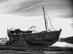 The best days are over (jarimakila) Tags: wreck blackandwhite ship helsinki bw uusimaa finland fi