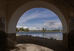 View from the arch (Lyutik966) Tags: svetlitsa village lake seliger russia water arch stone entrance monastery island nature detail structure