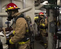 180929-N-SA412-0187 (SurfaceWarriors) Tags: damagecontrol mobe sailors marines usswasp 31stmeu phibron11 atgwestpac afloattraininggroup usswasplhd1 southchinasea