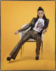 Jesse. (drpeterrath) Tags: portrait fahion popular woman female fierce lady girl boss model actress celebrity yellow canon eos 5dsr profoto studio