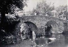 Roman Bridge Malmsmead Devon 1950 (Bury Gardener) Tags: bw blackandwhite oldies old snaps scans england uk britain landscape 1950s 1950 devon somerset