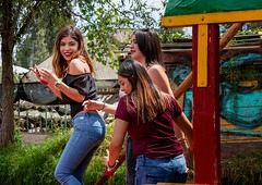 Mex City Girls (Rod Waddington) Tags: mexico mexican girls dancing group candid outdoor people city boat culture cultural