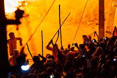 Soaking in the Heat of Holika Dahan Pyre, Phalain India (AdamCohn) Tags: adamcohn falein falen fallen hindu holikadahan india koshikalan kosikalan mathura vrindavan bonfire fire holi pyre silhouette wwwadamcohncom phalain prahladmandir prehladmandir