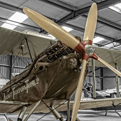 "A DH.51 in ""Aircraft Transport & Travel Ltd"" livery. (Tony Baldwinson) Tags: dh51 aircrafttransporttravelltd aircraft biplane museum airshows aviation ww1 uk oldwarden nikond5000 nikon18200f3556"