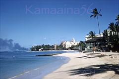Waikiki Beach Looking Ewa 1959 (Kamaaina56) Tags: 1950s waikiki hawaii slide beach