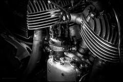 Distributor, 1942 Indian (Explored) (G. Postlethwaite esq.) Tags: 1942indian bw dof derbyshire heage sonya7mkii vtwin beyondbokeh blackandwhite bokeh classicbikes depthoffield distributor engine fullframe mirrorless monochrome motorbikes photoborder selectivefocus windmill