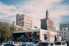 sj color art 1 (jayplorin) Tags: canon ae1 fujifilm fujicolor 200 iso film october 2018 san jose california buildings art artwork abstract colorful vehicles cars