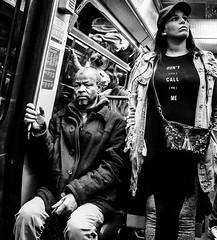 MessageGap.jpg (Klaus Ressmann) Tags: klaus ressmann omd em1 african fparis france latinoamerican spring subway blackandwhite candid flcpeop girl man streetphotography unposed klausressmann omdem1