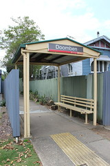 Bus shelter at Doomben Station, Brisbane (philip.mallis) Tags: brisbane doomben doombenrailwaystation trainstation railwaystation shelter hamilton