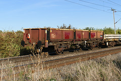 112256 Kingsthorpe 290918 (Dan86401) Tags: wilsonscrossing kingsthorpe wcml 6w03 northampton 112256 oca ocan bass dropsideopenwagon br fishkind fourwheeled wagon freight db dbcargo engineers departmental infrastructure civilengineer