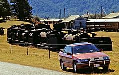 1995-0716-Suby-Dorrigo-S1835 (ozjd) Tags: trainssteamrailstationrailyardcarssubytrainscarssteamrailstationsubyyard dorrigo nsw trains cars steam rail station suby yard