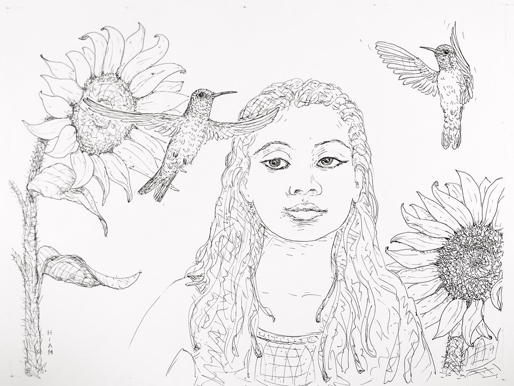 the world s newest photos of drawing and hummingbird flickr hive mind Minecade Server IP meetingtheneighbors alex hiam tags sunflower hummingbird girl garden nature bird flower sketch pen