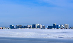 Frozen Ocean City Skyline by Erik Dowell (Maryland DNR) Tags: 2018 photocontest land scenery sceniclandscape winter snow oceancity worcestercounty