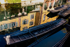 Colmar, Alsace, France (klauslang99) Tags: klauslang reflection boats water canal creek city colmar alsace france houses