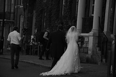 Just Married (Bury Gardener) Tags: burystedmunds bw blackandwhite britain suffolk streetphotography street streetcandids snaps strangers candid candids people peoplewatching folks 2018 nikond7200 nikon england eastanglia monochrome mono angelhill