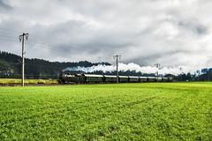 LAF_0570 (Hans-Peter Kurz) Tags: railway railroad reisen railscape eisenbahn zug train transport austria österreich outdoor drautal drautalbahn kbs223 lienzer südbahntage ebfl eisenbahnfreunde lienz nbik nostalgiebahnen kärnten sonderzug sonderregionalzug sr br93 931332 dampflok dampfzug dampfsonderzug dampf br1245 nostalgie historisch spantenwagen