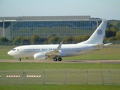 M-LCFC Boeing 737-BBJ (c/n 34683) EGLF (andrewt242) Tags: mlcfc boeing 737bbj cn 34683 eglf