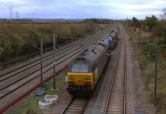 67023, 67027 Ampthill Tunnel 3J93 RHTT 27-10-18 (2) (6089Gardener) Tags: midlandmainline ampthill 67027 class67 colas