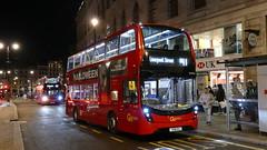 Night MMCs (londonbusexplorer) Tags: goahead london adl enviro 400 mmc hybrid eh296 yx18kxj eh298 yx18kxl n11 ealing broadway liverpool street n87 kingston aldwych tfl night buses