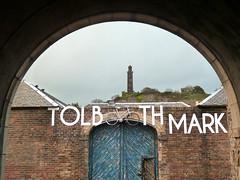 Come in! (marinadelcastell) Tags: toolbothmarket caltonhill edinburgh nelsonmonument bike cloudy door brickwall art artistic