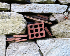Stony Still Life (YIP2) Tags: abstract facade minimal minimalism simple less line linea detail pattern old stilllife geometry vintage architecture building repetition stone urbandetail wall lines details surface abandoned decay remains texture worn nostalgia urban