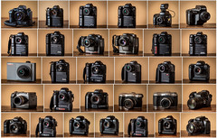 The first digital SLRs (maoby) Tags: nikon kodak canon minolta olympus fujix agfa fujifilm collection vintage old first dslr