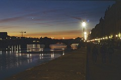Sunset in Florence (michele.palombi) Tags: sunset florence tuscany film 35mm kodak ultramax400 canona1 arno river