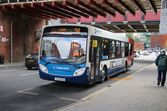 Stagecoach Manchester 22583 (SF08 GOU) (SelmerOrSelnec) Tags: stagecoachmanchester man 18240 alexanderdennis enviro300 salford newbaileystreet salfordstation bus stagecoachwestern 34