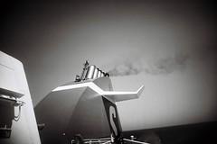 Smokestack (bigalid) Tags: film 35mm bw plastic july 2018 kodak bw400cn c41 superheadzwideandslim ferry