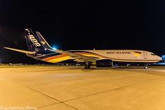 West Atlantic UK G-NPTA HAJ at Night (U. Heinze) Tags: aircraft airlines airways airplane planespotting plane nikon night nightshot eddv flugzeug haj hannoverlangenhagenairporthaj
