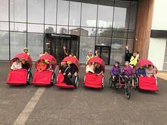 Billund Dagtur August 2018 Cykling uden alder Fællesbillede Hånd i vejret