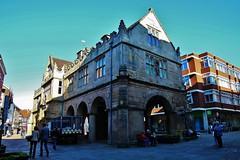 The Old Market Hall Shrewsbury (Eddie Crutchley) Tags: europe england shropshire shrewsbury outdoor architecture historicbuilding sunlight streetview simplysuperb blueskies