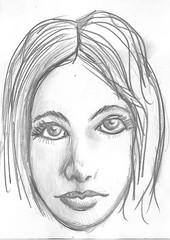 pencil face (DREADNOUGHT2003) Tags: pencil doodle chalk paints drawings art sketch