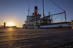 "The Sun Rises Over The ""SS Master"" (Clayton Perry Photoworks) Tags: vancouver bc canada richmond steveston explorebc explorecanada sunrise boats fishing ssmaster tugboat"