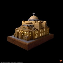 Hagia Sophia (ZetoVince) Tags: vince zeto zetovince greece greek orthodox church christian hagia sophia ayasofya temple museum mosque constantinople istanbul lego moc architecture gricks byzantium byzantine roman empire eastern microscale monument holy wisdom divine tower sky building