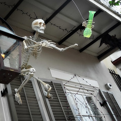 a skeleton's worst nightmare (lucymagoo_images) Tags: new orleans halloween decorations french quarter fun funny nola louisiana sony rx100 house