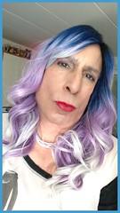 Halloween 18 (bevhills2) Tags: tgurl transgender makeup mac browneyes sexy seductive dominant sub lipstick trap purplehair lavenderhair tg redlipstick coloredhair ombre bluehair trannygirlfriend gf gfe barbieboi barbie